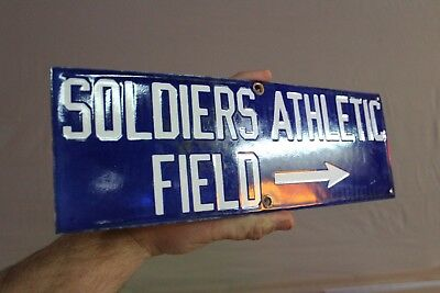 Chicago Bears Soldiers Athletic Field Porcelain Metal Street Sign  Football Gas
