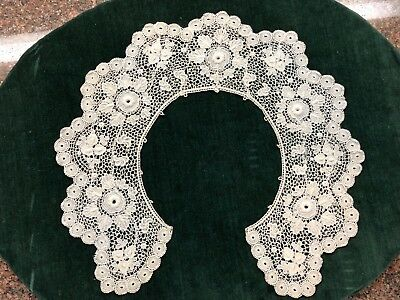 Sciffli Lace Whte Cotton Vintage Collar