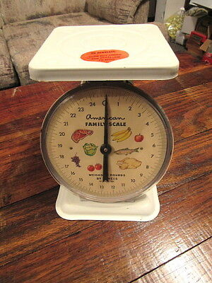 Vintage American Family Scale 25 Pound Kitchen Counter Scale Collecting Cooking
