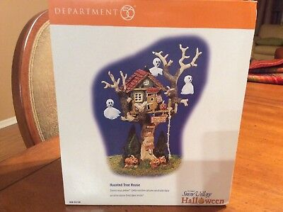 Brand New Dept 56 HALLOWEEN SNOW VILLAGE HAUNTED TREE HOUSE 55150 New in Box