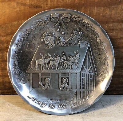 Wendell August Forge Aluminum Christmas Dish ...away to the window Santa House