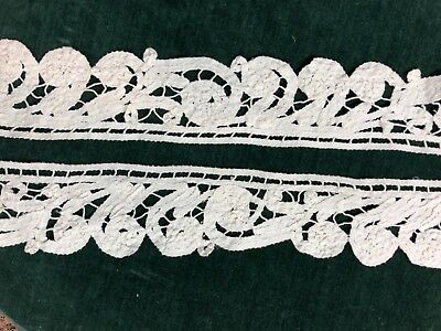 Hand Made Antique Battenburg Lace Trim