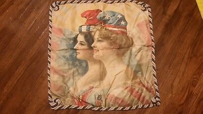 "Very Rare Pillow cover 1904 Louisiana Purchase Expedition 22"" x 22"""