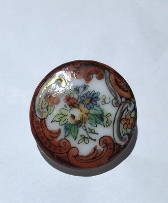 Beautiful Antique Porcelain /china Hand Painted  Button~Depose France