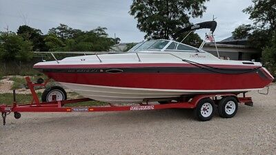 Video Freshwater Lake 260Hp Fishing & Family Fun Hotrod Red W/ Walk Around Cuddy