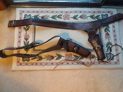 Two Cowboy Gun Belts & Holsters, One Ruger and One Classic Old West Style Maker