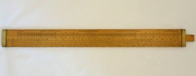 24 Inch Boxwood Farmar Wine and Spirits Slide Rule