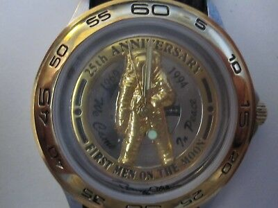 APOLLO 11 BUZZ ALDRIN 25th ANNIVERSARY WATCH CONTAINING SPACECRAFT METALS