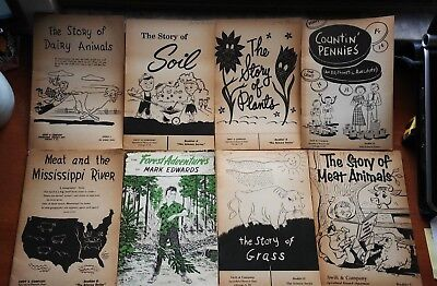Lot of 8 Educational Booklets Swift & Company Forrest Adventures of Mark Edwards