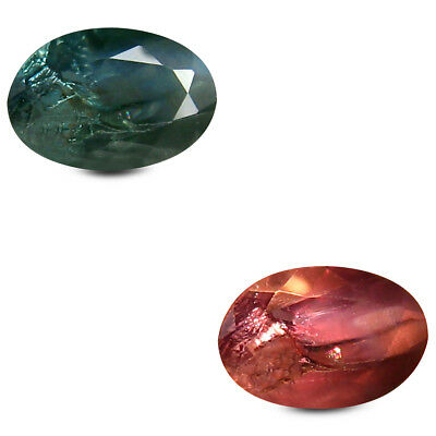 0.48 Ct Charmantes Ovale (6 X 4 mm) Un-Heated Couleur Change Alexandrite Libre