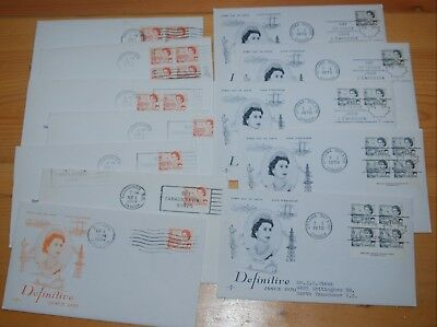 Weeda Canada 459-460 Cacheted FDCs, lot of First Day Covers