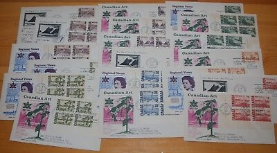 Weeda Canada 461-465B Cacheted FDCs, lot of First Day Covers
