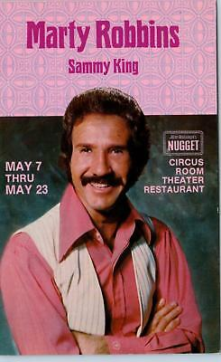 SPARKS, NV  Nevada   MARTY ROBBINS  at NUGGET CASINO  c1960s or 70s Postcard