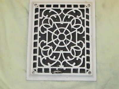 VINTAGE CAST IRON Heat Grate Vintage Heat Vent Wall Register for 8 x 10 Openning