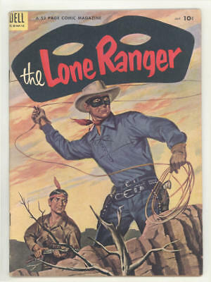 July 1954 THE LONE RANGER #73 comic book with painted cover. Almost FINE