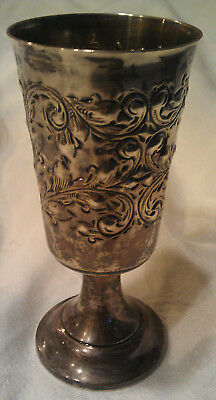 """Vintage Sterling Silver Chalice Cup Goblet 5 1/2"""" 147.94g Scrap Weight"""