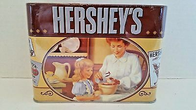 Hershey's Keepsake Recipe Tin Box with 99 Recipe Cards & 5 Dividers New Sealed