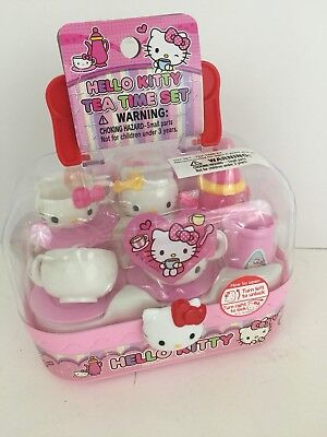 Sanrio Hello Kitty Tea Time Set G6110 Pink Cups Teapot Complete Sealed New Neko