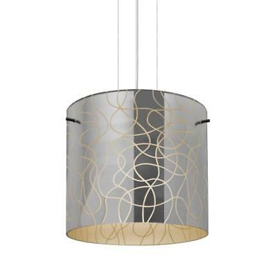 "Besa Lighting 1KG-LITH12CR-SN Lithium 1-Light 11-3/4""W Pendant with Glass Shade"