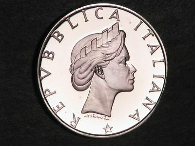 ITALY 1986 500 Lire Ancient Tree Silver Choice Proof