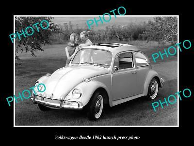 Old Large Historic Photo Of 1962 Volkswagen Beetle Type 1 Launch Press Photo 4