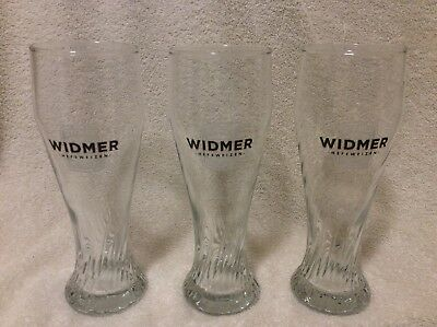 Set of 3 Widmer Brothers Brewing Hefeweizen Pilsner Beer Glasses 16 oz R1