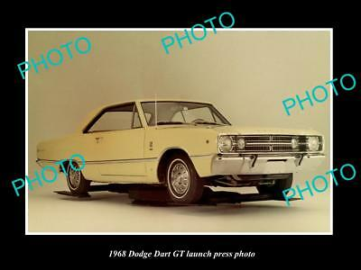 Old Large Historic Photo Of 1968 Dodge Dart Gt Coupe Launch Press Photo 2