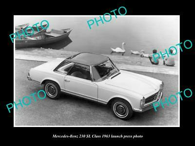 Old Large Historic Photo Of 1963 Mercesdes Benz 230 Sl Launch Press Photo
