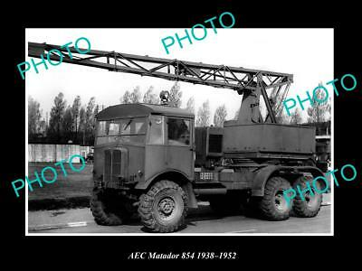 OLD LARGE HISTORIC PHOTO OF 1950s AEC 854 MATADOR TRUCK LAUNCH PRESS PHOTO