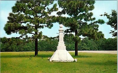 BENTONVILLE, NC North Carolina  BATTLEGROUND CONFEDERATE Monument c60s  Postcard