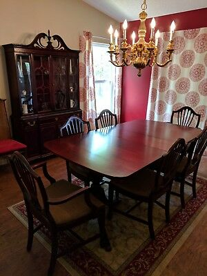 Duncan Phyfe Style Dining Set and China Cabinet