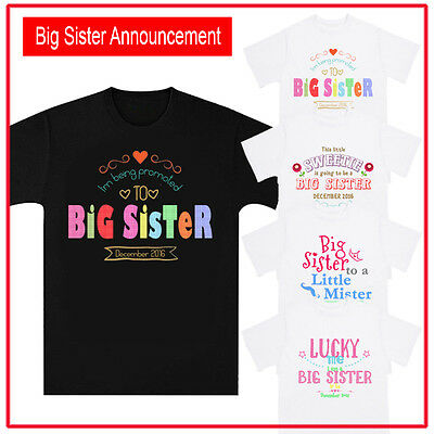 Personalised / Customised Big Sister Birth Announcement Baby Shower