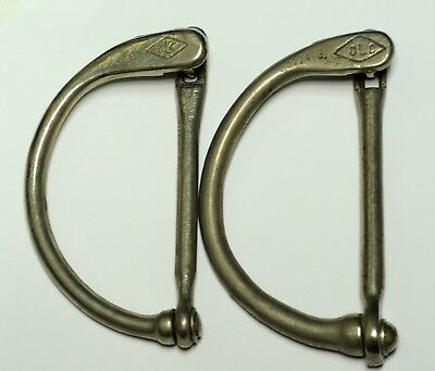 2 Wwii Canadian Or British Locking Kit Duffle Bag Handles Excellent Shape