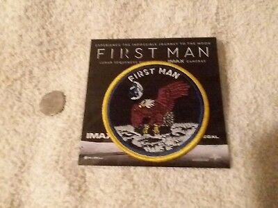 First Man (2018) Promo Patch Movie Studio / Theater IMAX Regal Gosling Chazelle