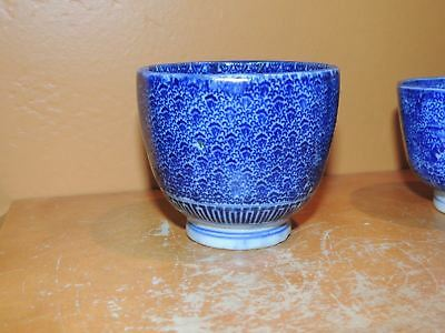 """ONE Chinese Cup 3""""x2.5 Blue & White Qing dynasty 19th Antique Vintage"""