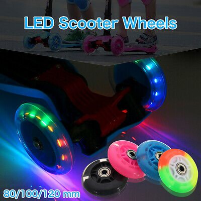 LED FLASH WHEEL Kickboard City Scooter Roller Ersatzräder ABEC-7 80/100/120mm