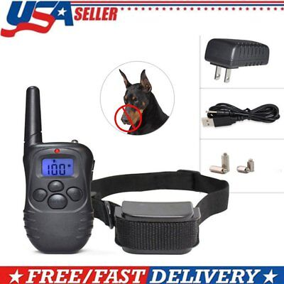 Rechargeable Electric Remote Dog Training Collar 330Yard Shock Collar W/ Remoter