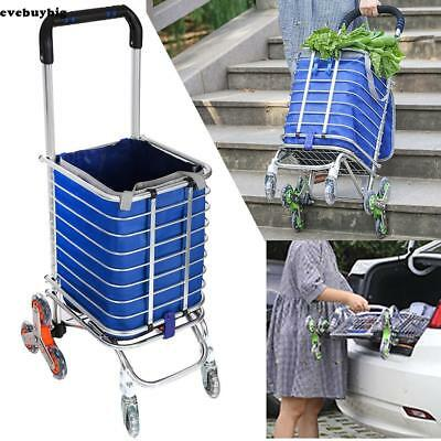 Stair Climbing Trolley Cart 6/8 Wheel Folding Grocery Laundry Shopping Handcart/