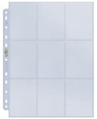 10 x ULTRA PRO PLATINUM CARD ALBUM BINDER PAGES SLEEVES WITH 9 POCKETS 11 HOLES