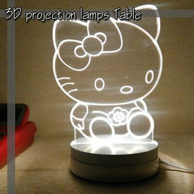 3D Illusion Night Light LED Luna Desk Table Lamp USB Charging Touch Control Gift