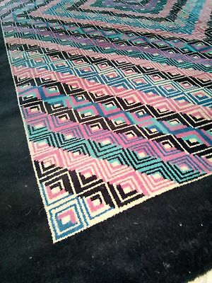 Vintage Italian wool Carpet by Rosita Missoni 1980s Space Age fluo