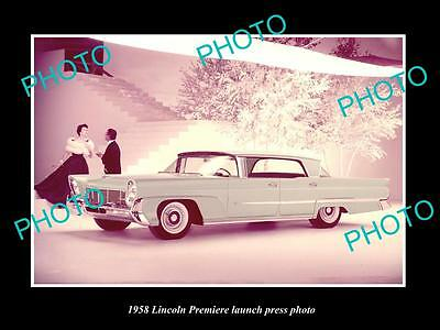 Old Large Historic Photo Of 1958 Lincoln Premier Car Launch Press Photo
