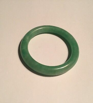 Vintage Chinese Jade Childs Bangle Bracelet