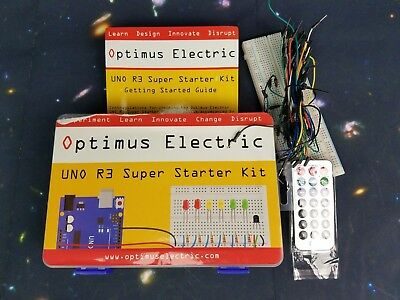 Optimus Electric Uno R3 Super Starter Kit 196 Pieces