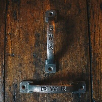 Cast Iron D Handle/Chunky/Rustic/Industrial/Horizontal & Vertical/ GWR design