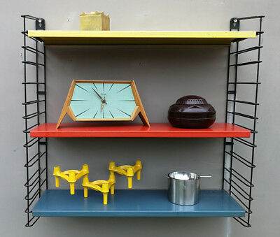 Vintage Retro Mid Century Orginal Industrial Dutch Tomado Bookshelf Rietveld Era