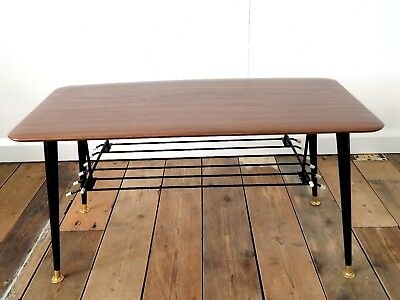 Vintage Retro 50s 60s Mid Century Atomic Era Dansette Formica Coffee Table