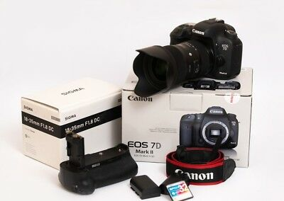 NEW Canon EOS 7D Mark II DSLR Camera Full Kit