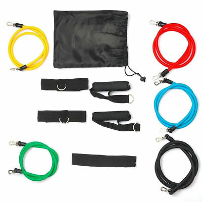 11pcs Resistance Exercise Bands Fitness Elastic Training Ropes Gym Yoga Pilates