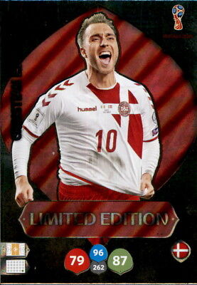 Panini Adrenalyn XL  World Cup WM Russia 2018 Christian Eriksen Limited Edition